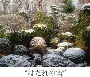 """""""はだれの雪"""""""